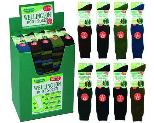 Wellington sokken (Per 1 paar) assorti