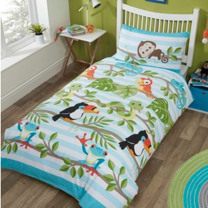 Decoware Kinderdekbedovertrek Rainforest  140x200 cm
