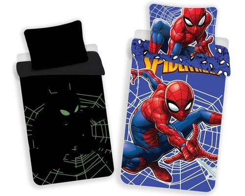 Marvel Glow in the dark Dekbedovertrek Spiderman