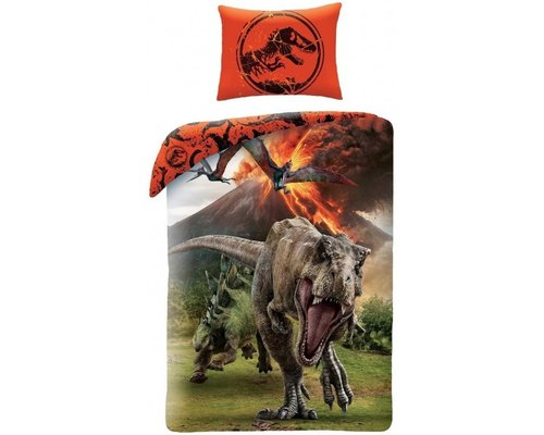 Jurassic World T Rex dekbedovertrek Vulcano