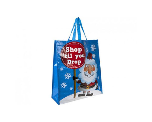 Decoware Kerst shopper Santa shopping