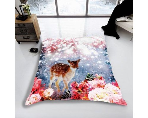 Magical winter deer Fleece deken