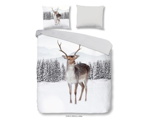 Good Morning Flanel dekbedovertrek winter deer 240x220 cm