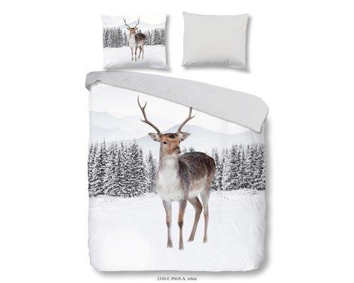 Good Morning Flanel dekbedovertrek winter deer