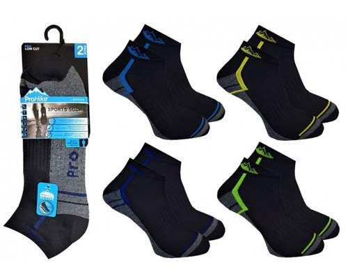 Decoware Men's Active Pro-Hike Terry Cushion Sole Trainer Liner Socks (per 2 paar)