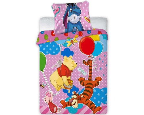 Winnie the Pooh dekbedovertrek  dots 100x135 cm