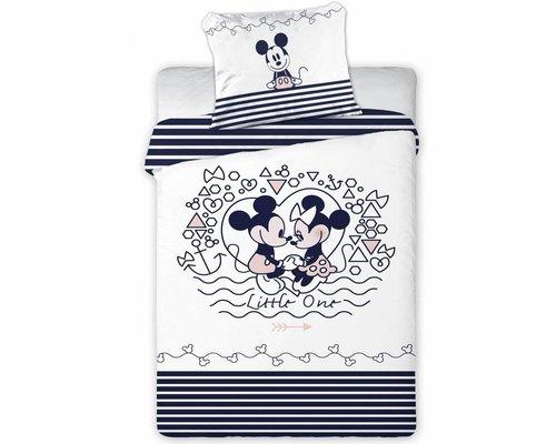 Disney Minnie & Mickey mouse Ledikant dekbedovertrek 100x135 cm