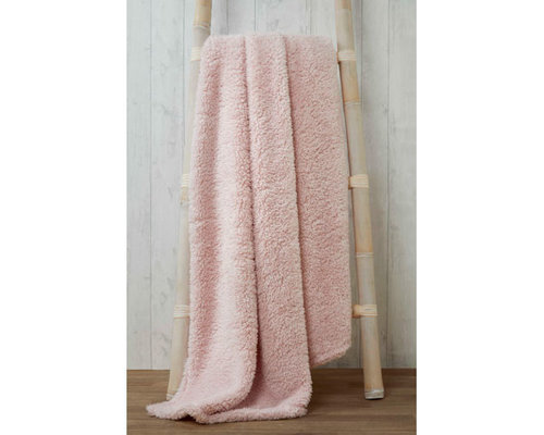 Soft & Cosy fleece plaid Blush