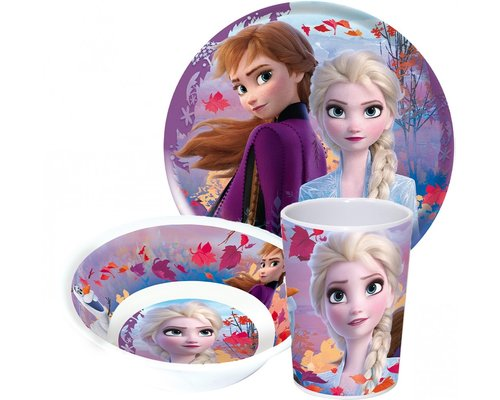 Disney Frozen 3 delige kinderservies set paars