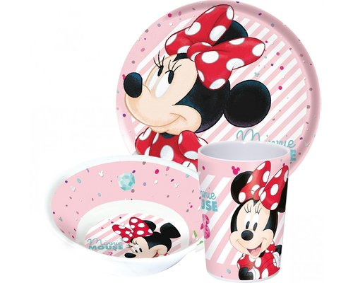 Disney Kinderservies Minnie Mouse 3-delig