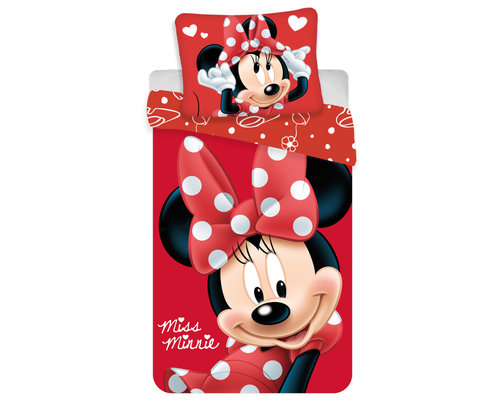 Disney Minnie Mouse dekbedovertrek rood