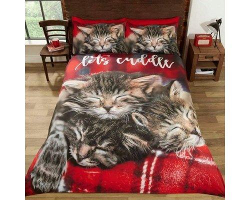 Dekbedovertrek Kittens Let's Cuddle