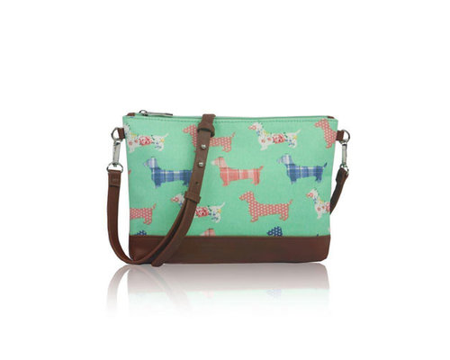 Decoware Handtas Teckels mini cross body groen