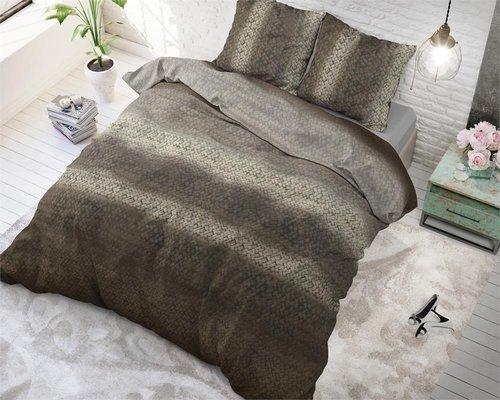 Dreamhouse Dekbedovertrek Gradient knit bruin