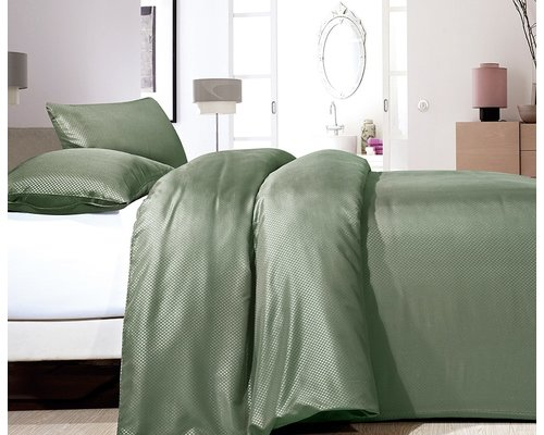 ZENsation Dekbedovertrek Satin point groen