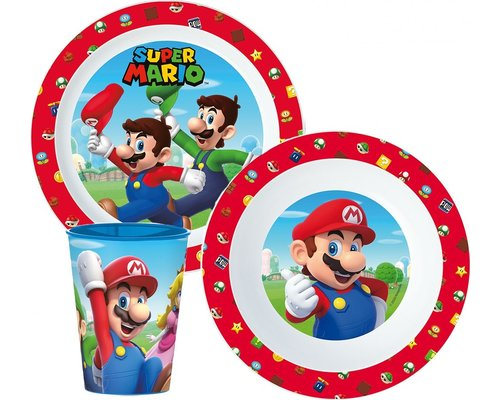 Super Mario 3 delige kinderservies set