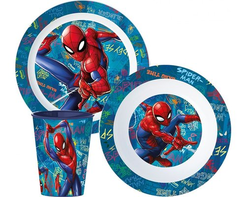 Spiderman 3 delige kinderservies set