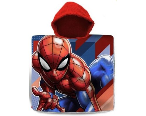 Marvel Spiderman badponcho met capuchon