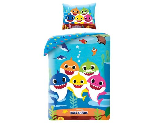 Decoware Baby Shark dekbedovertrek kids