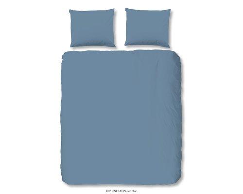 HIP Uni dekbedovertrek ice blauw katoen satijn
