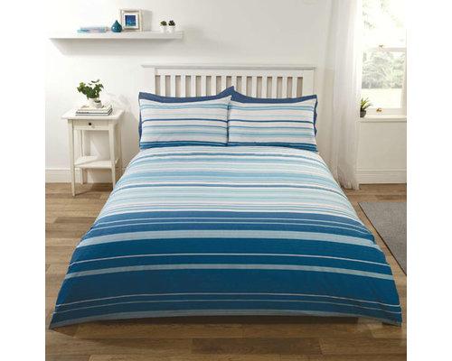 Decoware Dekbedovertrek Staford stripe blauw