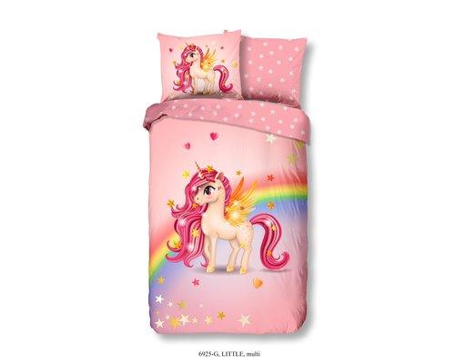 Good Morning Dekbedovertrek Unicorn rainbow 1-persoons