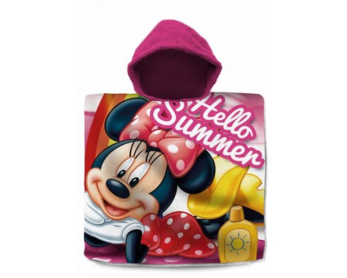 Minnie Mouse Badponcho met capuchon summer