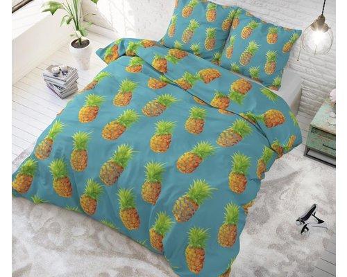Sleeptime Dekbedovertrek Ananas blauw