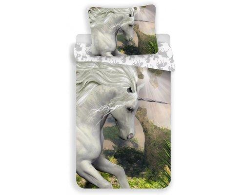 Decoware Witte Unicorn dekbedovertrek 140x200 cm