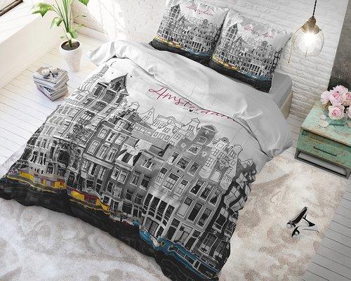 Dreamhouse Dekbedovertrek Old Amsterdam grijs