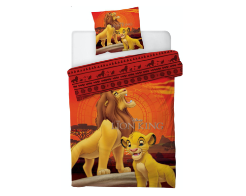 Disney Dekbedovertrek Lion King rots