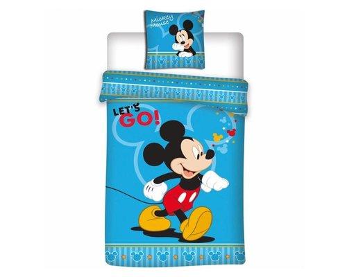 Mickey Mouse Dekbedovertrek Let's go 140x200 cm