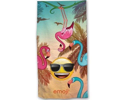 Emoji Strandlaken flamingo