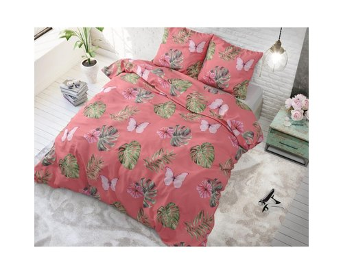 Sleeptime Dekbedovertrek Botanical blush pink