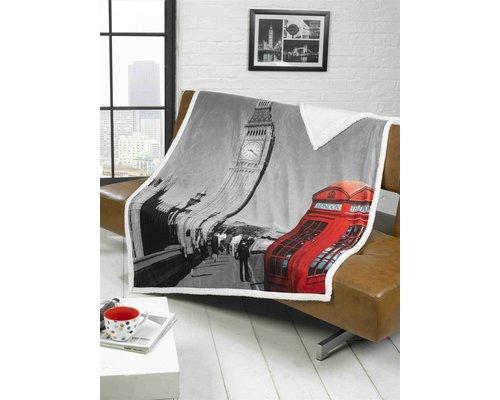 Londen Fleece deken 130x160 cm