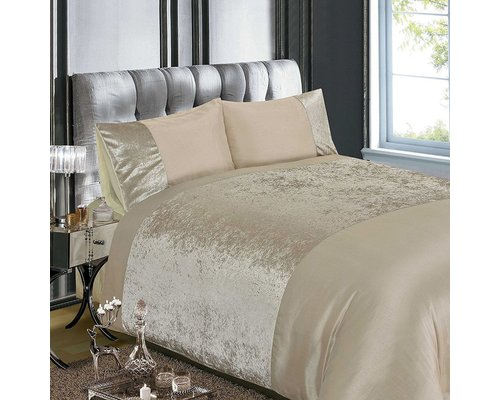 Decoware Dekbedovertrek Luxury crushed velvet naturel