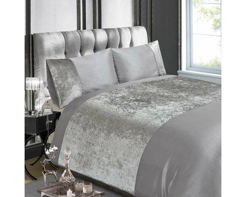 Decoware Dekbedovertrek Luxury crushed velvet silver
