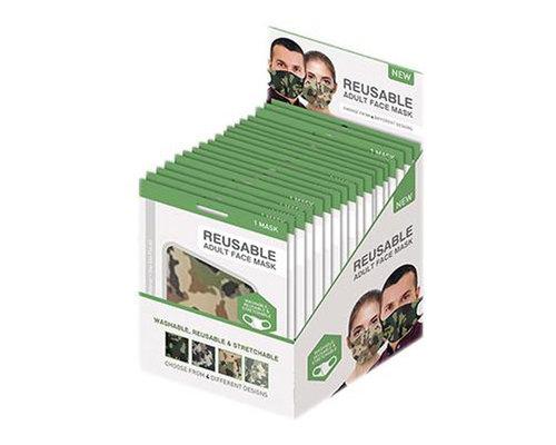 Mondkapje met camouflage print (Per stuk)