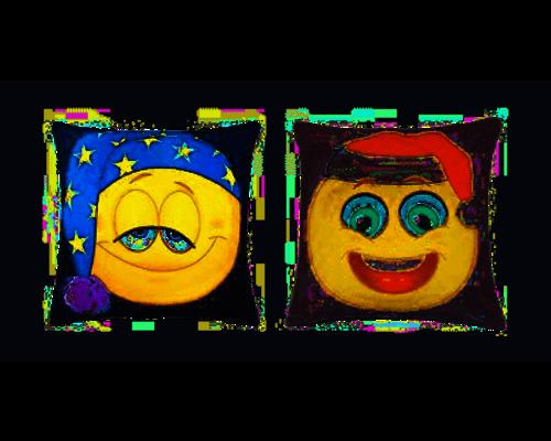 Decoware Kerst sierkussen hoes Emoji