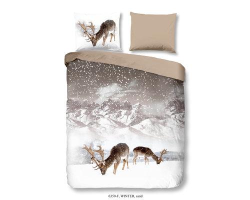 Good Morning Flanel dekbedovertrek Herten winter