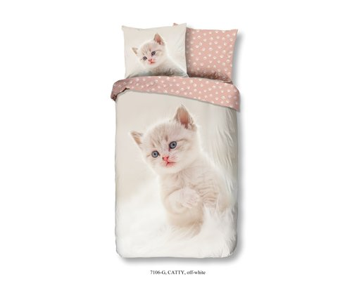 Good Morning Dekbedovertrek kitten cute 140x220cm