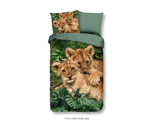 Good Morning Dekbedovertrek jonge leeuwtjes 140x220 cm
