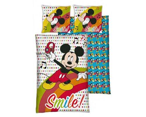 Disney Mickey Mouse dekbedovertrek smile 140x200 cm