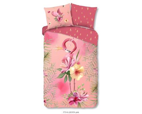 Good Morning Dekbedovertrek Flamingo tropical 140x220 cm