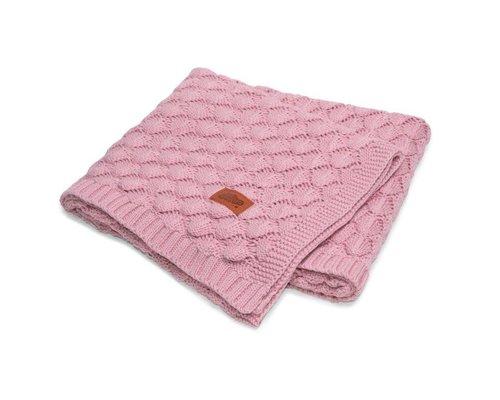 Mayamoo Katoenen wiegdeken roze gebreid