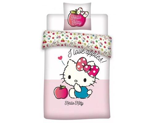 Hello Kitty Ledikant dekbedovertrek I love apples