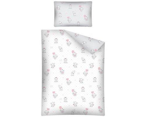 Mayamoo Dekbedovertrek Olifantjes roze 100x135 cm