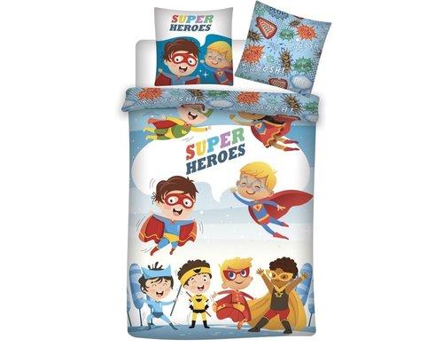 Dekbedovertrek Super Heroes 140x200 cm