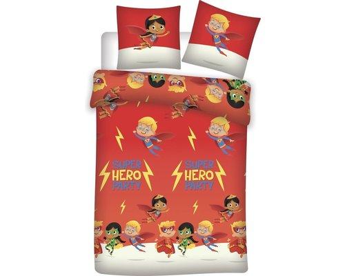 Flanellen dekbedovertrek Super Heroes 140x200 cm