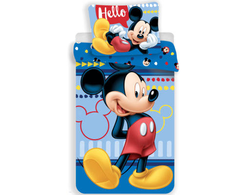 Disney Dekbedovertrek Mickey Mouse hello